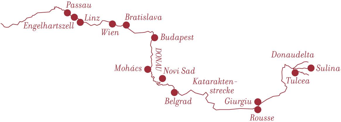 Flusskreuzfahrt Donau Delta bei A-ROSA mit Bratislava, Budapest und Belgrad