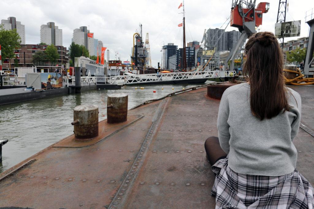 Kurze Verschnaufpause auf einem alten Öltanker im Museumshafen ;)