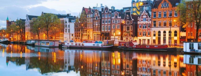 Häuser an den Grachten von Amsterdam