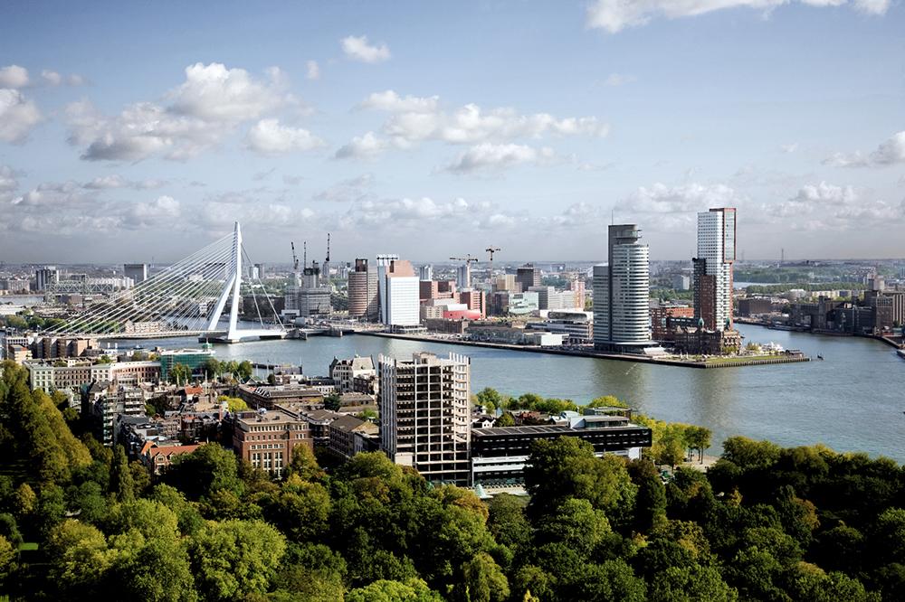 Der Hafen von Rotterdam.