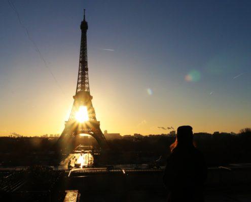 Paris beim Sonnenaufgang