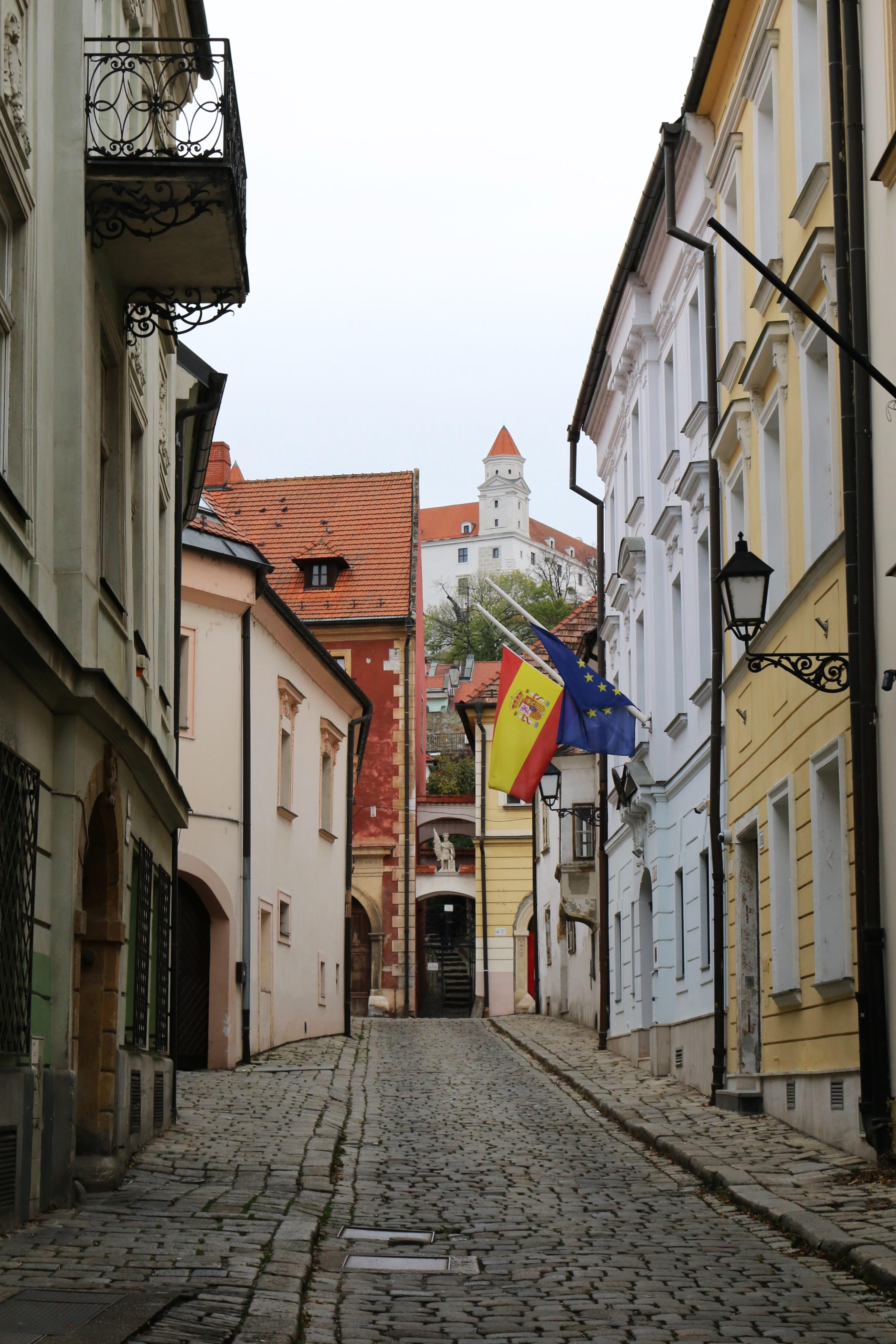 Eine Gasse in Bratislava