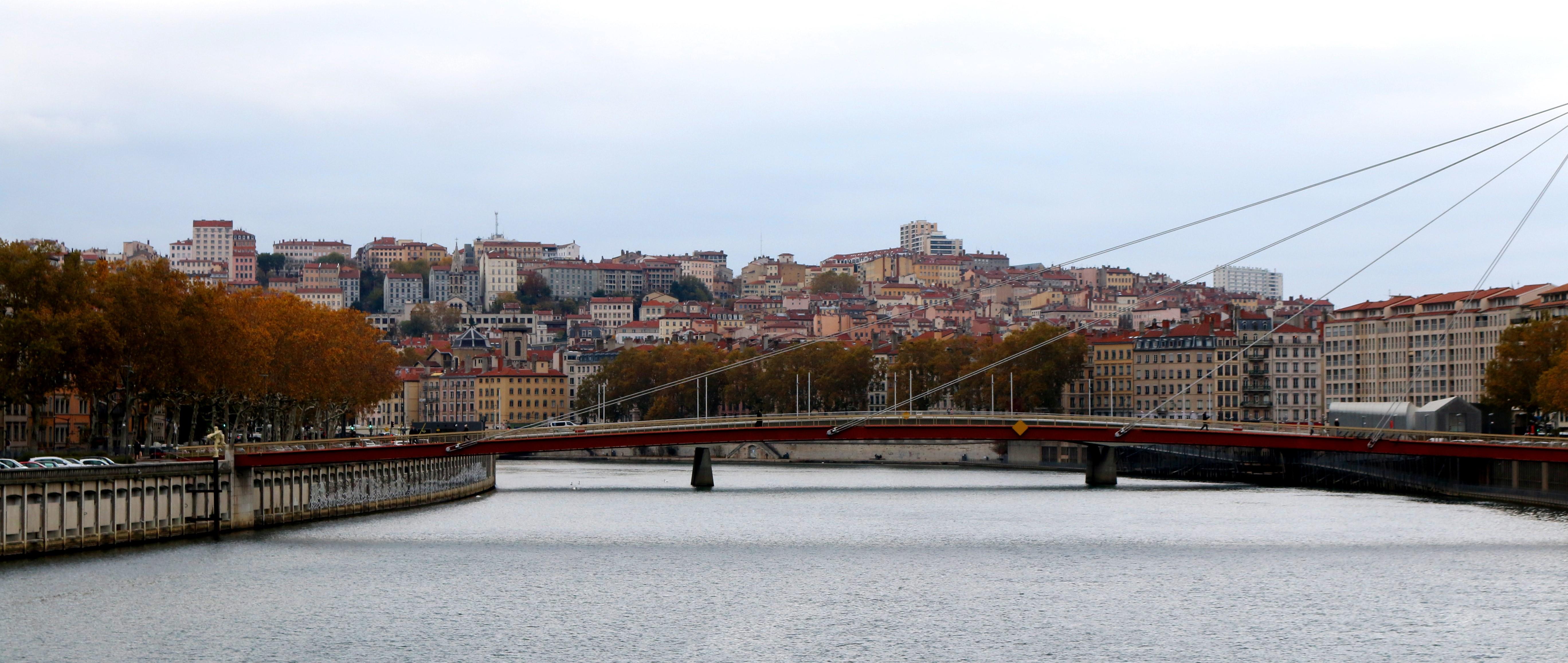 Ufer der Rhône in Lyon