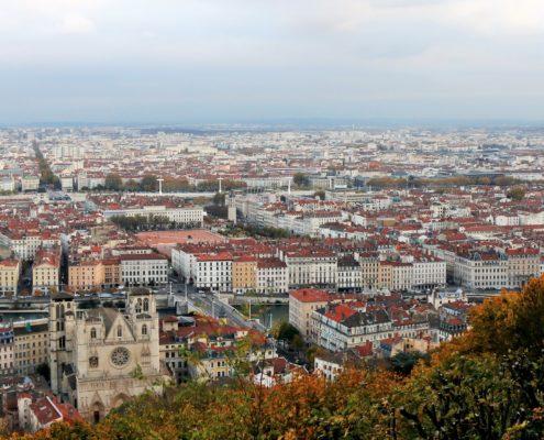 Lyon: Blick auf die Stadt