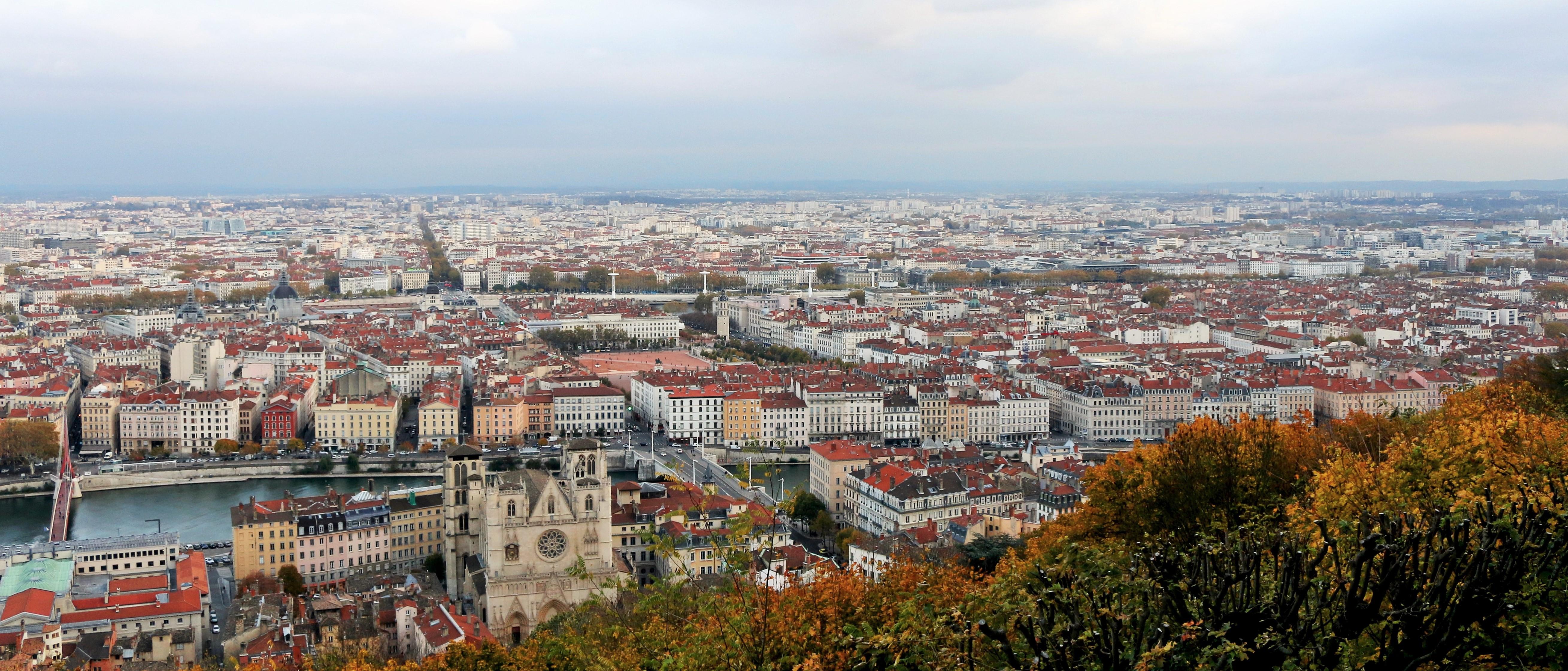 Einmaliger Blick auf die Stadt - Lyon von oben