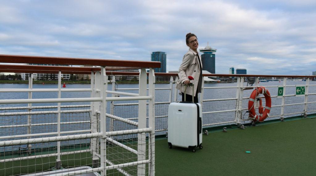 River Cruise Bloggerin Anna-Maria auf Deck