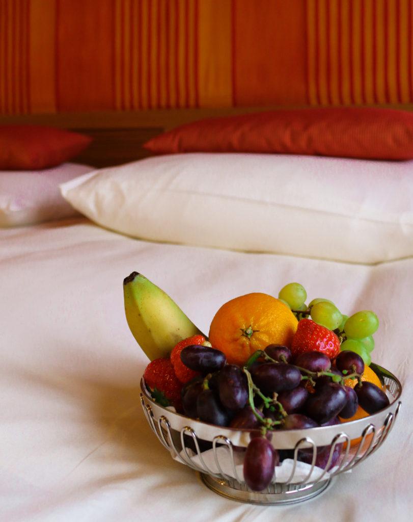 Auf der Kabine: Frisches Obst